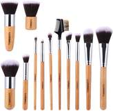 Make Up Brushes, Luxebell Professional Bamboo Handle Kabuki Make Up Brushes Kit - 12pcs by Luxebell
