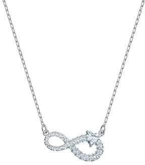Swarovski Infinity Rhodium-Plated & White Crystal Pendant Necklace