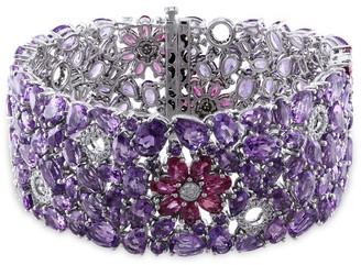 Miadora Signature Collection 14k Gold Gemstone and 3/4ct TDW Diamond Bracelet