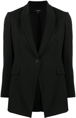 Theory Crop Sleeve Buttoned Blazer