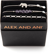 Alex and Ani Orchid Elephant Bracelets, Set of 3