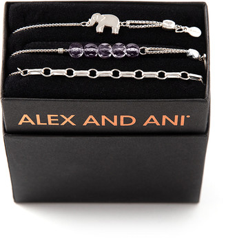 Alex and Ani Orchid Elephant Bracelets, Set of 3