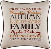 Red Barrel Studio Suzy Autumn Crisp Weather Embroidered Throw Pillow