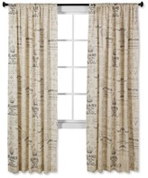 "Nobrand No Brand Script Curtain Panel 55""x84"""