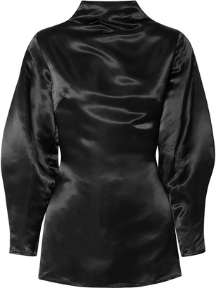 Beaufille Stella Open-back Satin Blouse