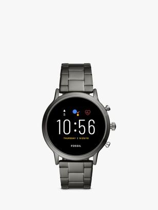 Fossil FTW4024 Men's Bracelet Strap Touch Screen Smartwatch, Grey/Black