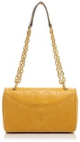 Tory Burch Alexa Suede and Leather Shoulder Bag
