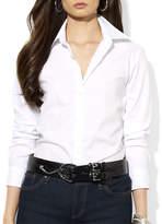 Lauren Ralph Lauren Petite Sateen Striped Dress Shirt