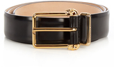 Alexander McQueen Double-skull leather belt