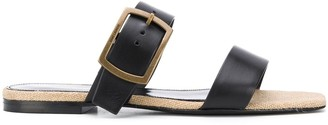 Saint Laurent Buckle Strap Sandals