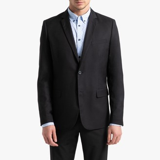 La Redoute Collections Straight Fit Single-Breasted Suit Jacket with Pockets
