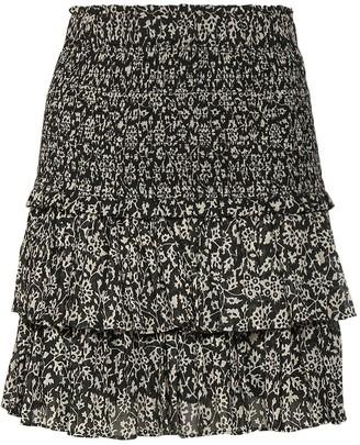 Etoile Isabel Marant Naomi Printed Cotton Voile Mini Skirt