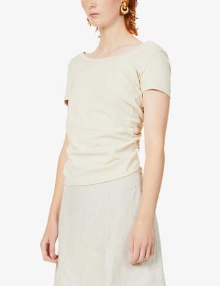 Jacquemus Sprezza tie-back cotton-jersey T-shirt