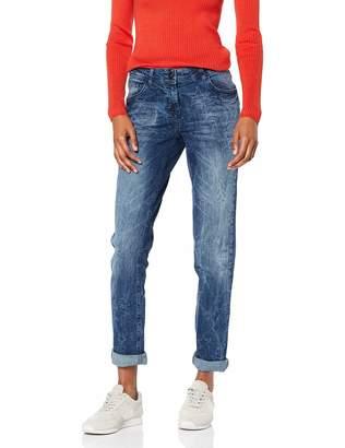 Cecil Women's 371692 Scarlett Laser Print Straight Jeans