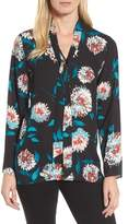 Chaus Women's Kyoto Blossoms Tie Neck Blouse