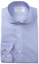 Lorenzo Uomo Plaid Multi Check Trim Fit Dress Shirt