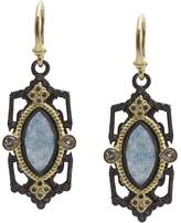 Armenta 18K Yellow Gold and Blackened Sterling Silver Old World Marquis Blue Quartz Triplet, Champagne Diamond and White Sapphire Drop Earrings - 100% Exclusive