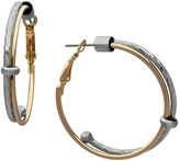 Boutique + The Gold-Tone Slide Twist Hoop Earrings
