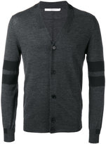 Givenchy panel stripe cardigan - men - Wool/Polyester - L