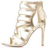 Charlotte Russe Metallic Laser Cut Dress Sandals