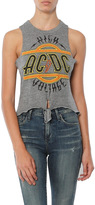 Chaser AC/DC Triblend Tie Front Muscle Tee