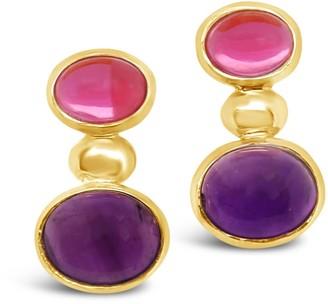 Gem Bazaar Jewellery Rose Tinted Earrings