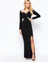 Lipsy Mesh Illusion Maxi Dress