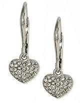 Nadri Pave Heart Earrings