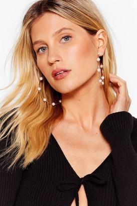 Nasty Gal Womens You Rock My Pearl Oversized Hoop Earrings - Gold