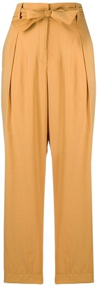 Forte Forte Tie-Waist Straight-Leg Trousers