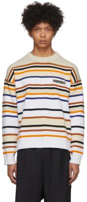 Kenzo Off-White Striped Seasonal Sweater