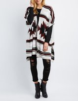 Charlotte Russe Aztec Open Poncho Cardigan