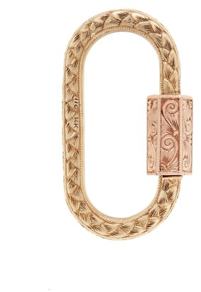 Marla Aaron Hand Engraved Lock Yellow and Rose Gold Charm