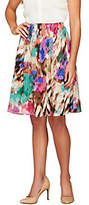 Sunny Leigh As Is Release Pleat Printed Pull-on Skirt with Lining