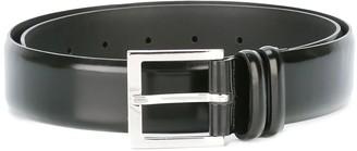 Orciani Brushed Black Leather Belt