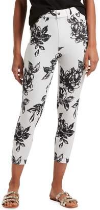 Hue Graphite Rose High-Waist Capri Pants
