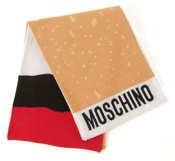 Moschino 'It's Lit' Knit Scarf