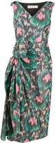Marni Abstract-Print Side Bow Dress