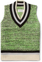 Maison Margiela Melange Cotton-Blend Sweater Vest