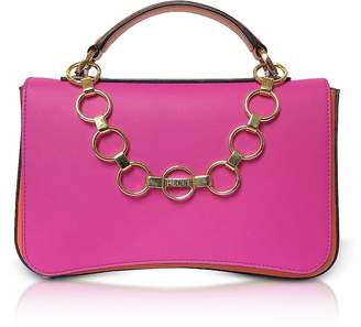 Emilio Pucci Color Block Leather Satchel Bag