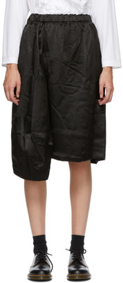 Comme des Garçons Comme des Garçons Black Silk Satin Midi Skirt