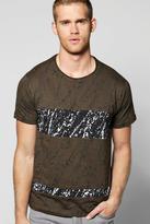Boohoo Splatter Panel Scoop Neck T-Shirt