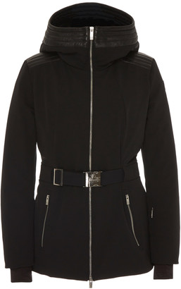 Fusalp Belted Leather-Trimmed Shell Ski Jacket