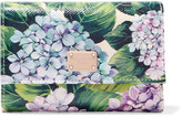 Dolce & Gabbana Floral-print Textured-leather Wallet