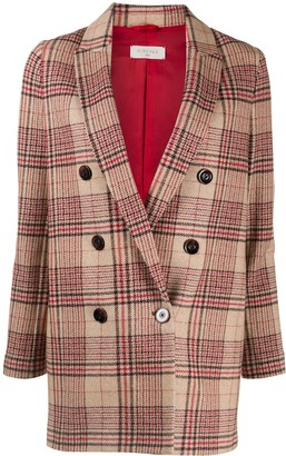 Circolo 1901 Plaid Double-Breasted Blazer