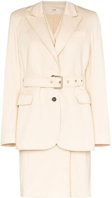 Zilver Double Layer Belted Trench Coat