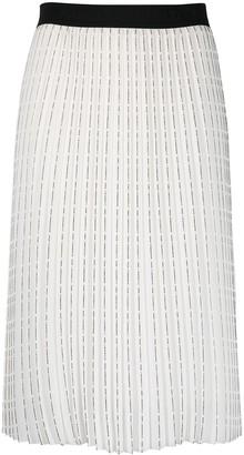Karl Lagerfeld Paris Logo Print Pleated Skirt