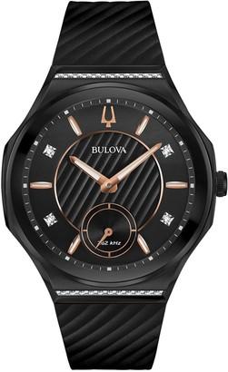 Bulova Women's CURV Black Dial Diamond Accent Watch