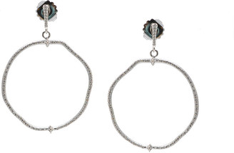 Armenta New World Diamond Pave Hoop-Drop Earrings