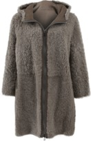 Brunello Cucinelli Leather Shearling Coat